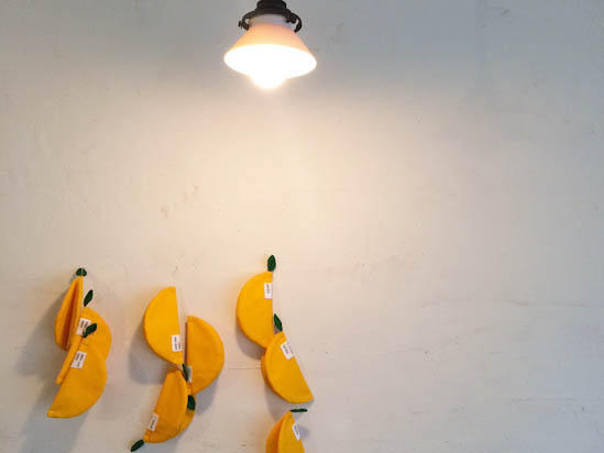美しいレモンコースター
